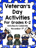 Veteran's Day Activities for K-2