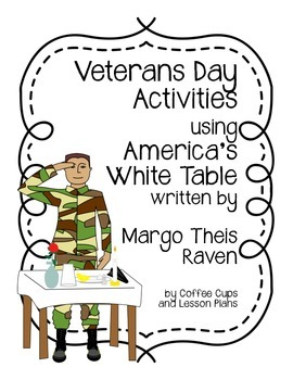 Veterans Day or Memorial Day Activity:  America's White Table