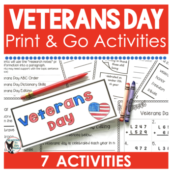 Veterans Day Print and Go Activities