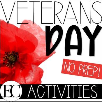 Veterans Day Activity Packet NO PREP!