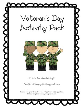 Veteran's Day Activity Pack