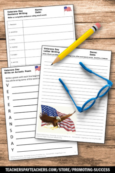 Veterans Day Activities, No Prep, Veterans Day Worksheets Early Finishers