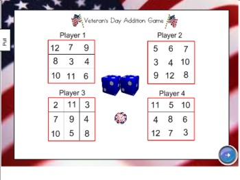Veteran's Day Activity Set for SmartBoard