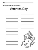 Veterans Day Activity Sheet / How many words can you make from Veterans Day?