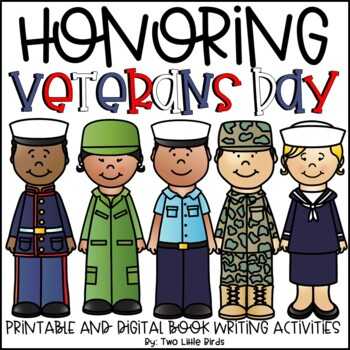 Veterans Day Activity: Veterans Day Writing Activity, Foldable Book