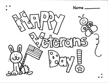 Veterans Day  Coloring Printable Worksheet
