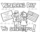 Veterans Day Addition Coloring Printable Worksheet