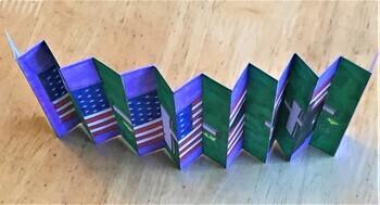 Veterans Day Agamograph Art Activity