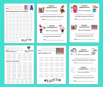 Veterans' Day Alphabet and Counting Activities FREEBIE Literacy and Math Centers