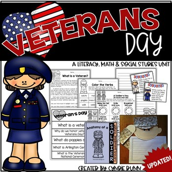 Veterans Day Integrated Unit: Math, Writing, Phonics, Reading and Social Studies