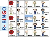 Veteran's Day Articulation BINGO for R, S, TH, L, and CH/SH