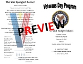 Veterans Day Assembly Agenda (EDITABLE/TEMPLATE)
