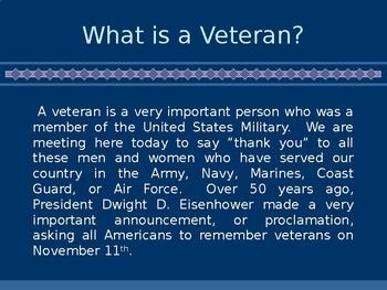 Veterans' Day Assembly Presentation