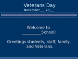 Veterans' Day Assembly Presentation