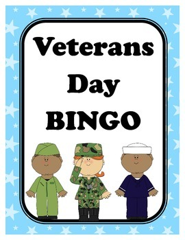 Veterans Day BINGO + 12 bonus pages of vocabulary words