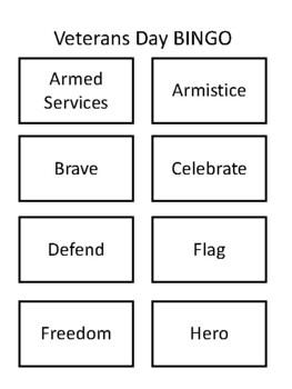 Veteran's Day BINGO!