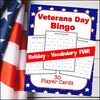 Veterans Day BINGO (Up to 30 players!)