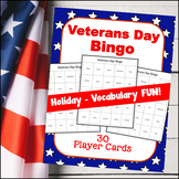 Veterans Day BINGO (Up to 30 players!)