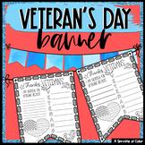 Veterans Day Flag Worksheet - Create a Classroom Banner