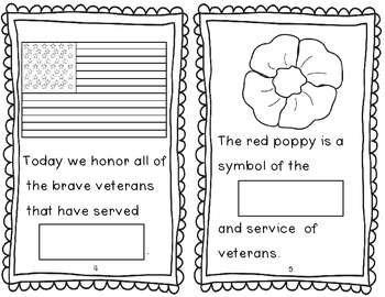 Veterans Day Book and Word Search