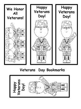 Veterans Day Book Marks
