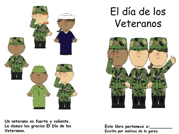 Veterans Day Book Spanish Version