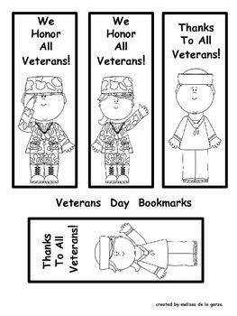 Veterans Day Bookmarks