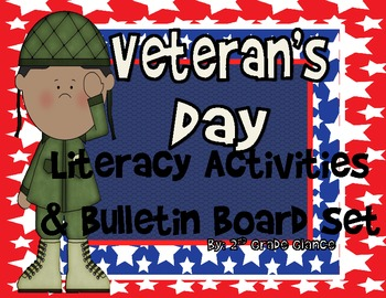 Veteran's Day Bulletin Board Dislpay/ Writing Craftivity/Literacy Lessons