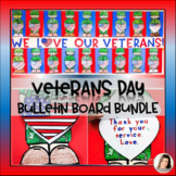 Veterans Day Bulletin Board - Flag Thank You Writing Flip Craft Templates