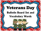 Veterans Day Bulletin Board Set & Vocabulary Words