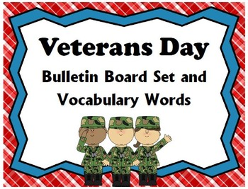 Veterans Day Bulletin Board Set & Vocabulary Words