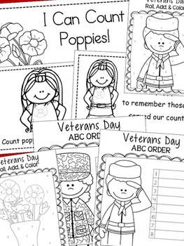 Veterans Day Math & Language Arts Bundle of Activities
