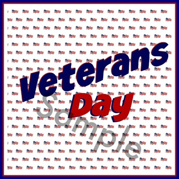 Veterans Day Calendar Marker