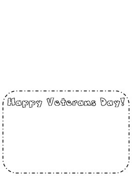 Veterans Day Card Template