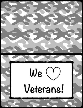 Veterans Day, Cards & Writing Paper Printables