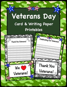 picture regarding Veterans Day Cards Printable referred to as Veterans Working day, Playing cards Creating Paper Printables