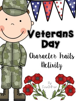 Veterans Day Character Traits Activity