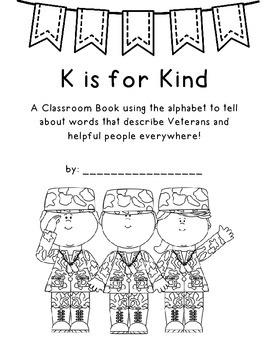 Veterans Day Classroom Book