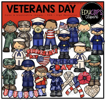 Veterans Day Clip Art Bundle {Educlips Clipart}