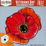 Veterans Day Clip Art - Poppy - Remembrance
