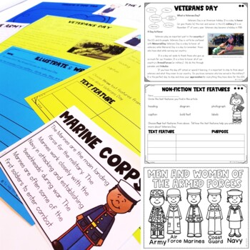 Veterans Day: Three Differentiated Close Reading Passages with Activities