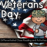 Veterans Day: Three Differentiated Close Reading Passages