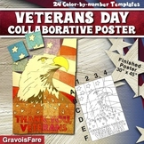 Veterans Day Collaborative Poster -- Group Art Project and Writing Activity