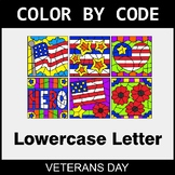 Veterans Day: Color By Letter (Lowercase)