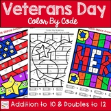 Veterans Day Color By Number Addition to 10