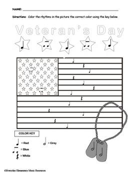 Veterans Day Color By Rhythm- VALUE BUNDLE- all rhythms!