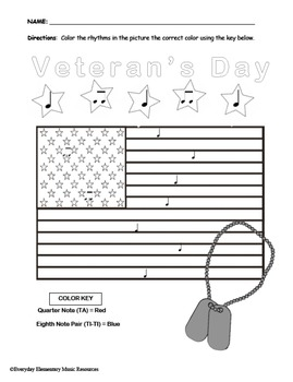 Veterans Day Color By Rhythm- VALUE BUNDLE- all rhythms!