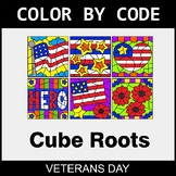 Veterans Day Color by Code - Cube Roots