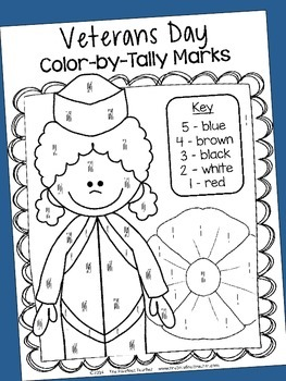 Veterans Day Color-by Activity Sheets