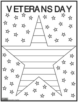 Veterans Day Coloring Page {FREEBIE} by Innovative Teacher | TpT